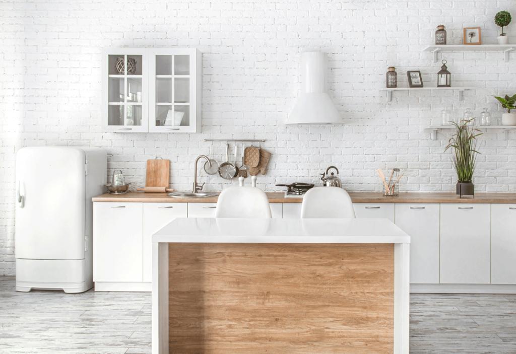 colores suaves y naturales en cocina moderna